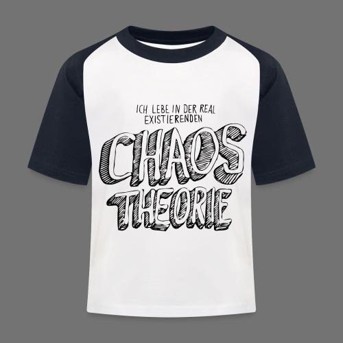 Chaos Theory (musta) - Lasten pesäpallo  -t-paita