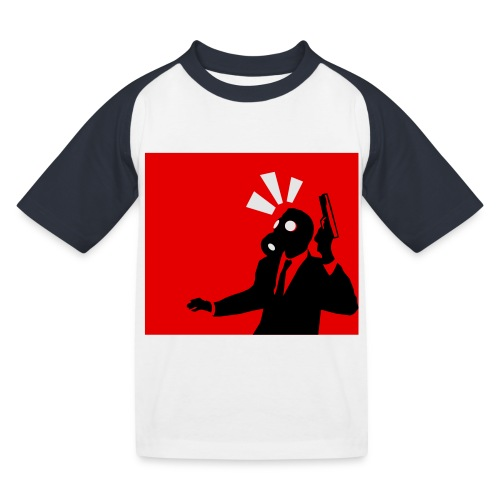 Gasmask - Kids' Baseball T-Shirt