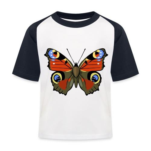 vlinder1_d - Kinderen baseball T-shirt