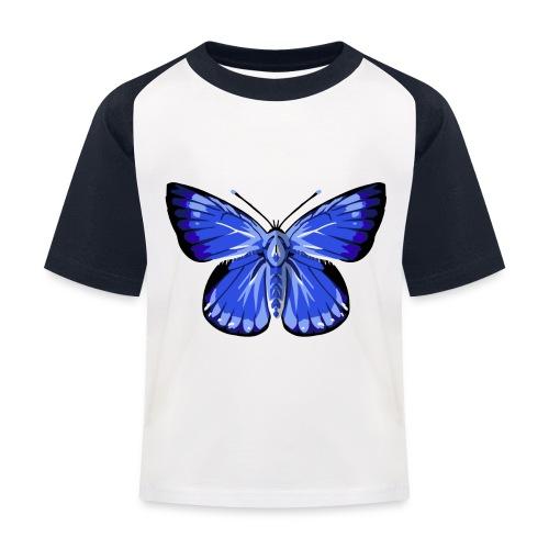 vlinder2_d - Kinderen baseball T-shirt