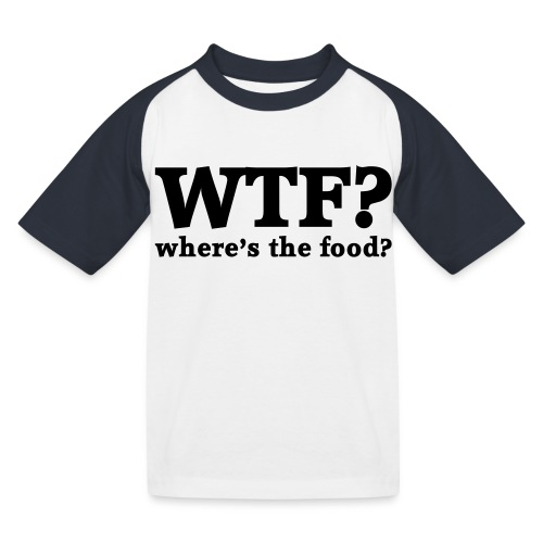 WTF - Where's the food? - Kinderen baseball T-shirt