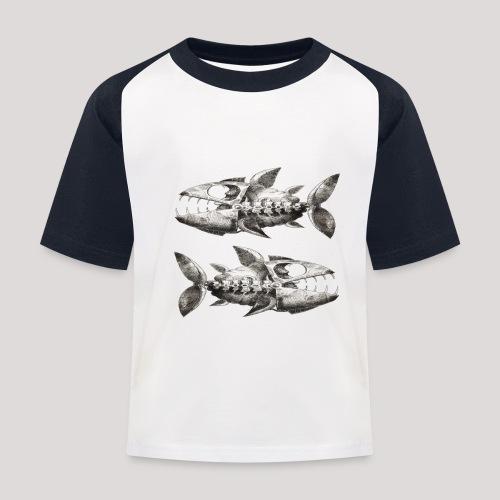 FishEtching - Kids' Baseball T-Shirt