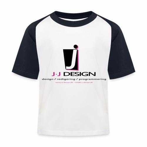 LOGO_J-J_DESIGN_FULL_for_ - Baseball T-shirt til børn