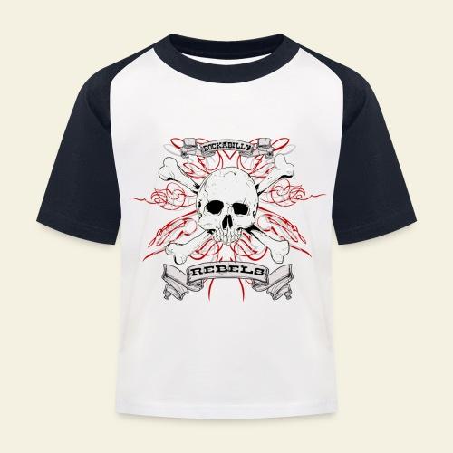 skull - Baseball T-shirt til børn