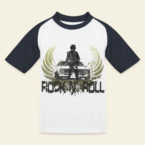 rock n roll camaro - Baseball T-shirt til børn