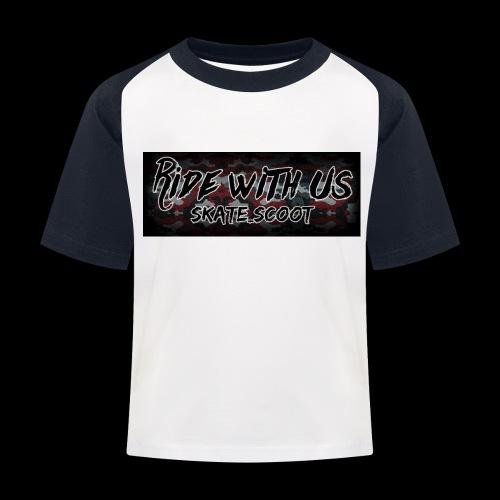 red camo - Kinderen baseball T-shirt