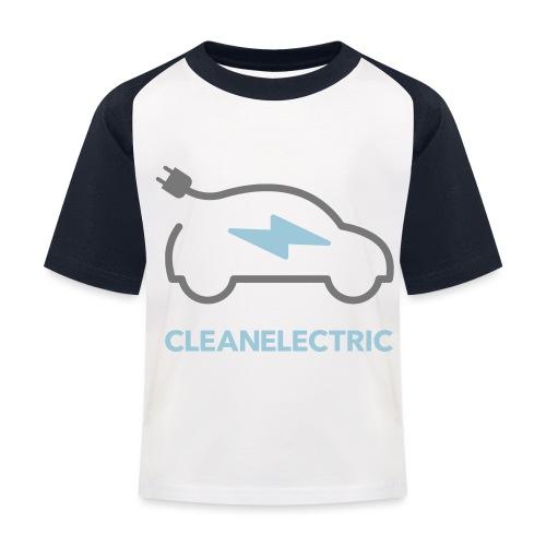 CLEANELECTRIC Logo - Kinder Baseball T-Shirt