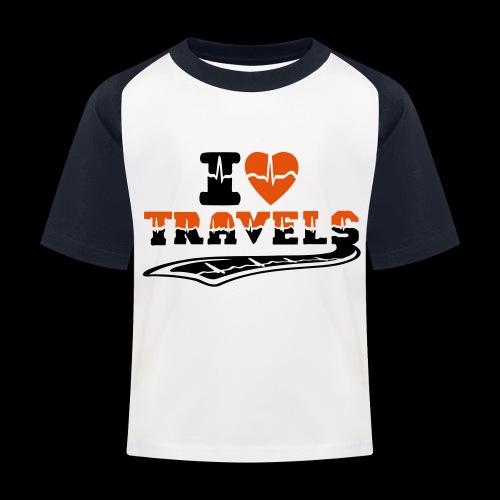 i love travels surprises 2 col - Kids' Baseball T-Shirt