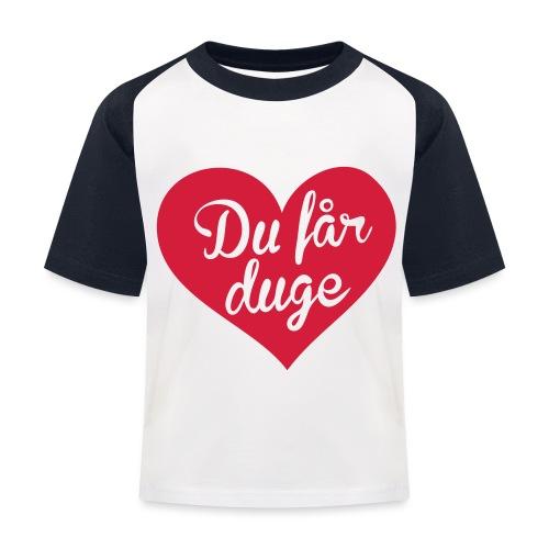 Ekte kjærlighet - Det norske plagg - Baseball-T-skjorte for barn