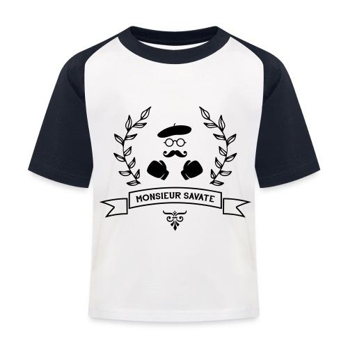Monsieur Savate logo1 - T-shirt baseball Enfant
