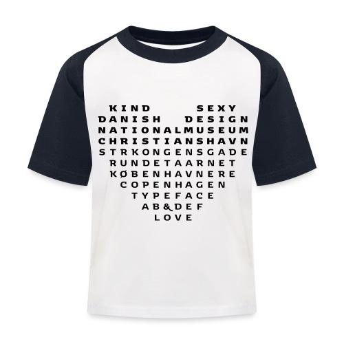 Copenhagen Heart - Baseball T-shirt til børn