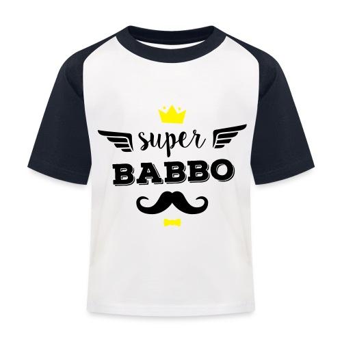 Super Babbo - Maglietta da baseball per bambini