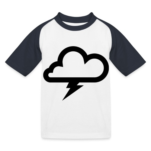 Wolke mit Blitz - Kinder Baseball T-Shirt