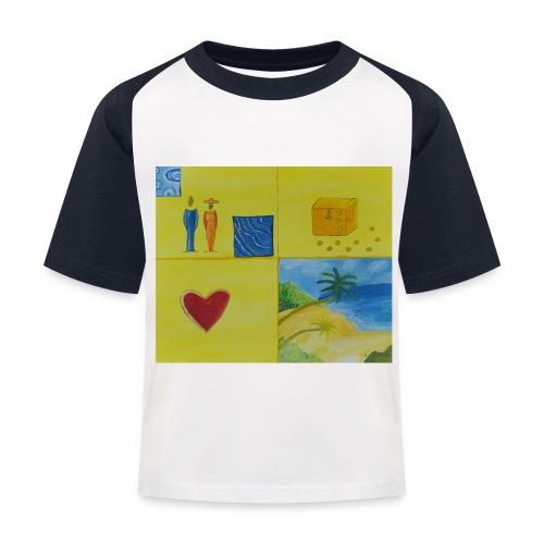 Viererwunsch - Kinder Baseball T-Shirt