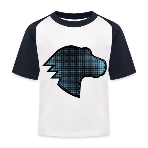 MDN Blue Gradient Dino - Kids' Baseball T-Shirt