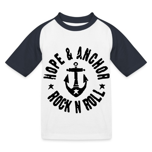 Hope & Anchor - Rock´n´Roll - Kinder Baseball T-Shirt