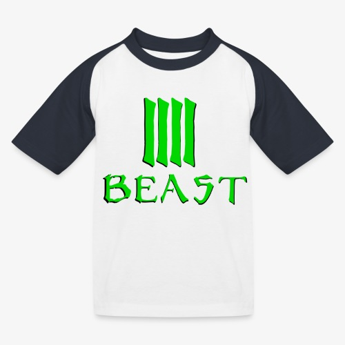 Beast Green - Kids' Baseball T-Shirt
