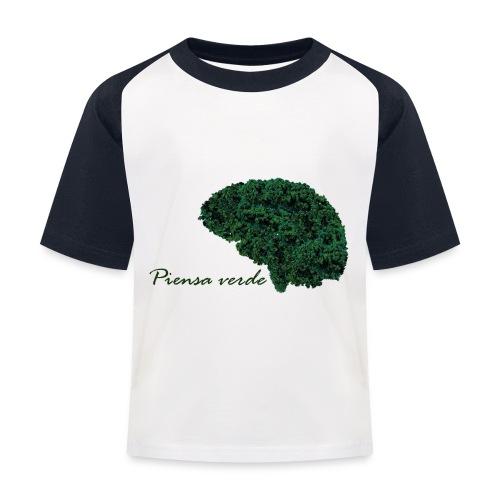 Piensa verde - Camiseta béisbol niño