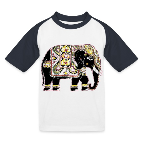 Indian elephant for luck - Kids' Baseball T-Shirt