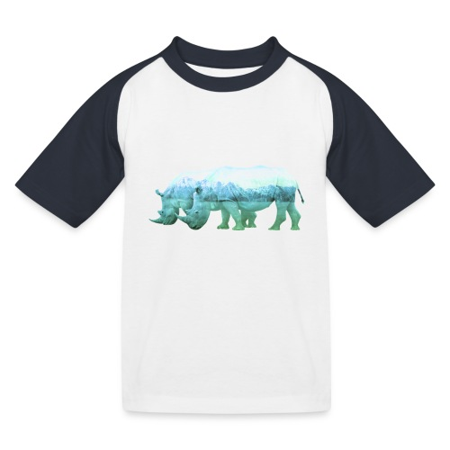RHINOS, DIE NASHÖRNER IN DEN ALPEN - Kinder Baseball T-Shirt
