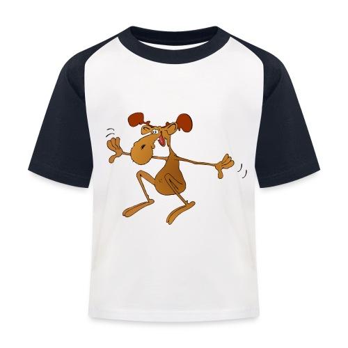 elch huepft - Kinder Baseball T-Shirt