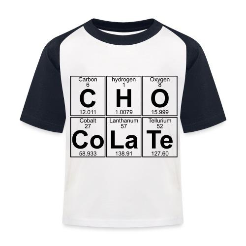 C-H-O-Co-La-Te (chocolate) - Full - Kids' Baseball T-Shirt