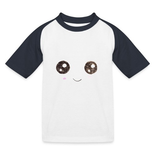 Kids for Kids: Smiling Face - Kinder Baseball T-Shirt