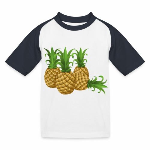 Ananas - Kinder Baseball T-Shirt