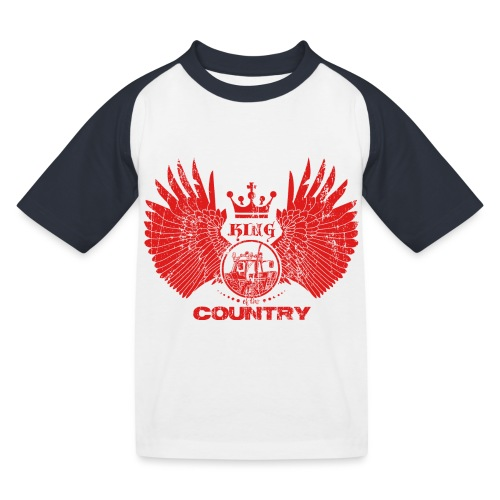 IH KING of the COUNTRY (Red design) - Kinderen baseball T-shirt