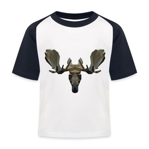 Low Poly Moosehead - Kinderen baseball T-shirt