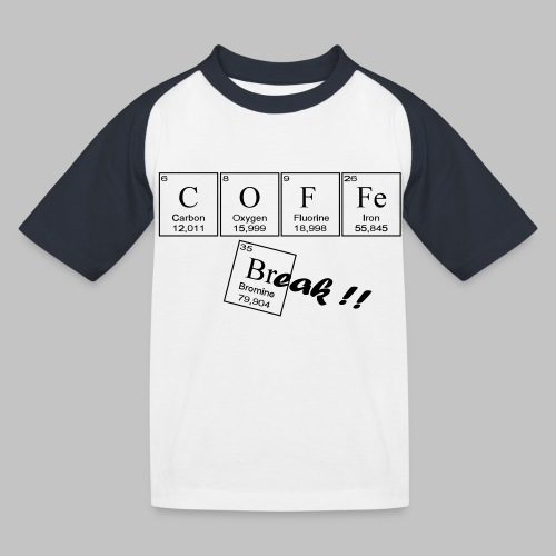 Coffee Break - Kids' Baseball T-Shirt
