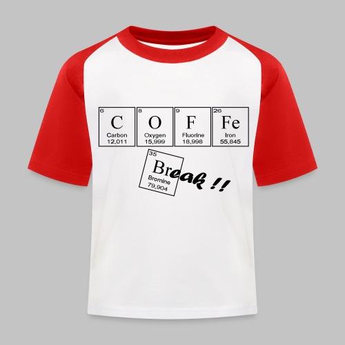 Coffee Break - Kids' Baseball T-Shirt