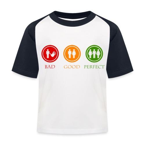 Bad good perfect - Threesome (adult humor) - Kinderen baseball T-shirt