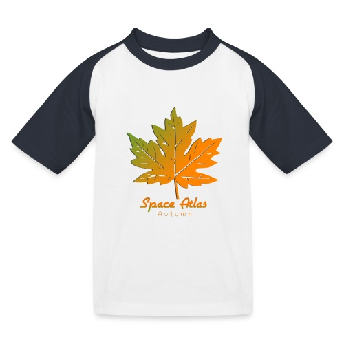 Space Atlas Long Sleeve T-shirt Autumn Leaves - Baseball T-shirt til børn