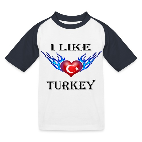 I Like Turkey - Kinder Baseball T-Shirt