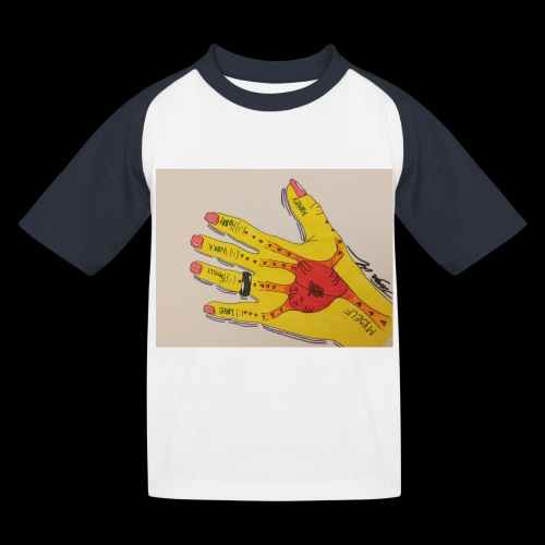 9D8D600F D04D 4BA7 B0EE 60442C72919B - Baseball T-shirt til børn