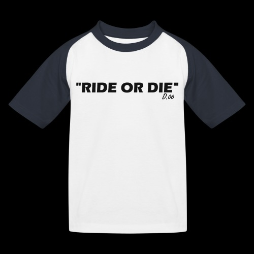 Ride or die (noir) - T-shirt baseball Enfant