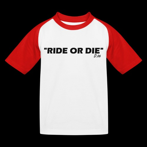 Ride or die (noir) - T-shirt baseball Enfant