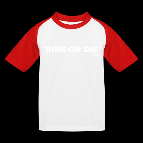 Ride or die (blanc) - T-shirt baseball Enfant