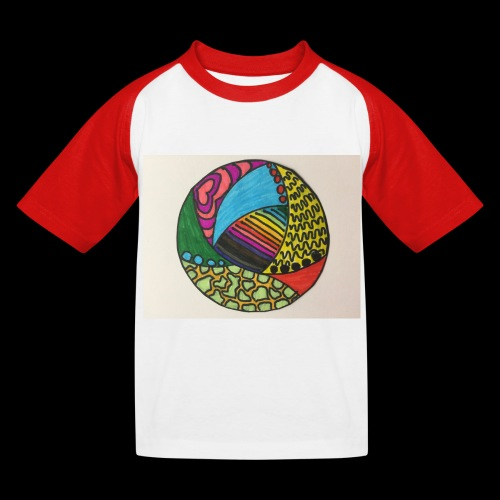 circle corlor - Baseball T-shirt til børn