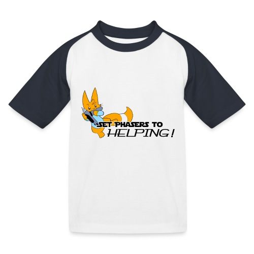 Set Phasers to Helping - Kids' Baseball T-Shirt