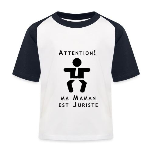 Attention Maman juriste ! - T-shirt baseball Enfant