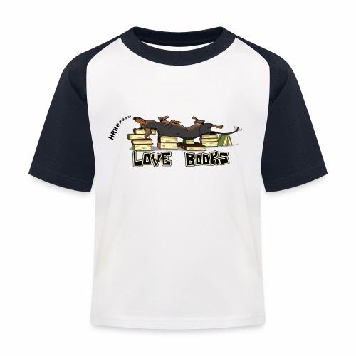 Love books - Koszulka bejsbolowa dziecięca