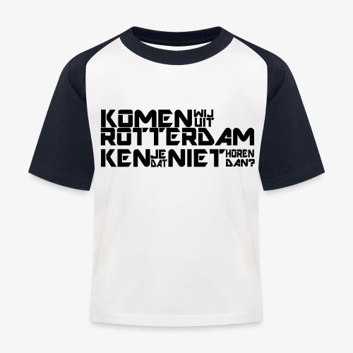 komen wij uit rotterdam - Kinderen baseball T-shirt