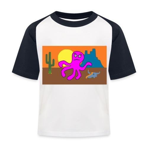 pulpo en el desierto - Camiseta béisbol niño