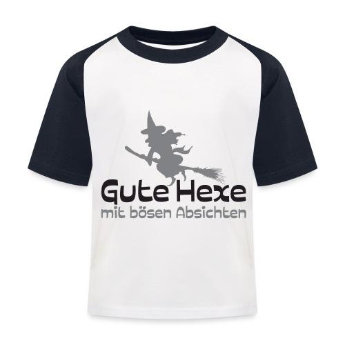 Gute boese Hexe02 - Kinder Baseball T-Shirt
