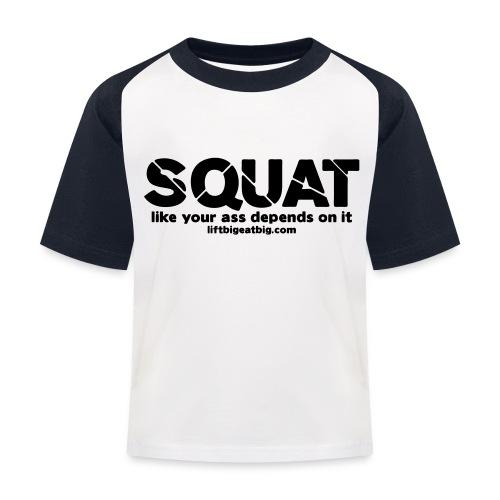 squat - Kids' Baseball T-Shirt