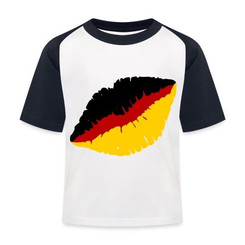 Deutschland Lippen Motiv - Kinder Baseball T-Shirt