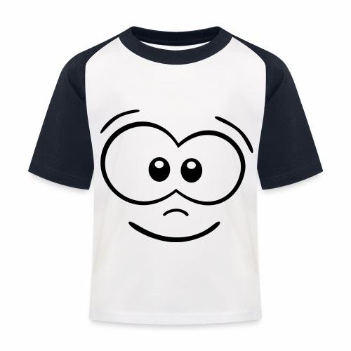Gesicht fröhlich - Kinder Baseball T-Shirt