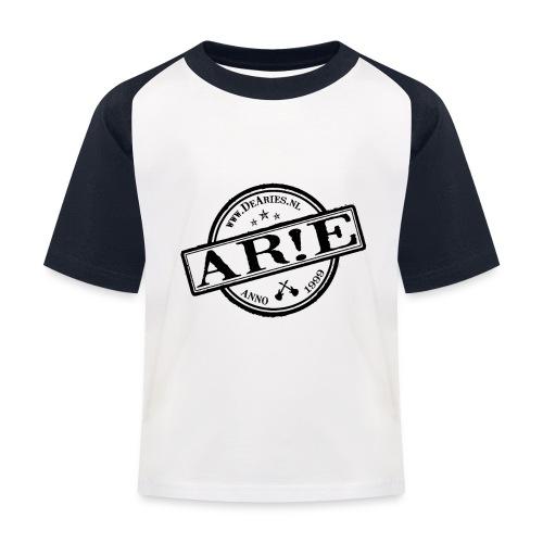 Backdrop AR E stempel zwart gif - Kinderen baseball T-shirt